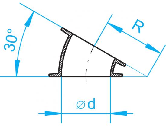 Cast-iron segments 30°