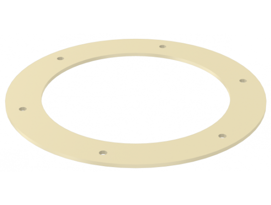 Gasket for counter flange (round) to connection
