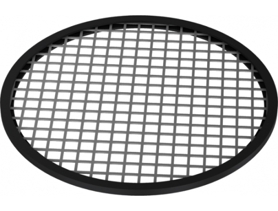 Perforated sheet metal with U-shaped seal for 2mm