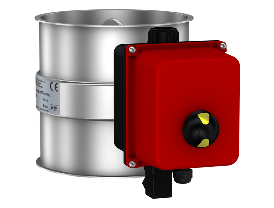 Throttle- / Shut-off valves without seal, electrically-operated with adjustable Air Torque drive