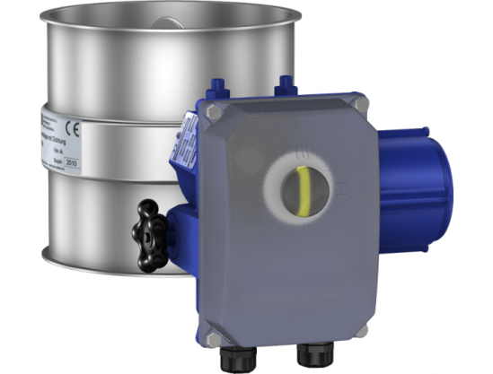 Throttle valves with seal, electrically operated with an adjustable Deufra drive