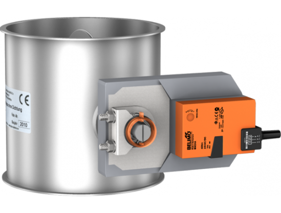Throttle- / Shut-off valves without seal, electrically-operated with Belimo valve actuator