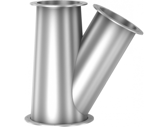 Conical forks 30°, with loose flange on all sides