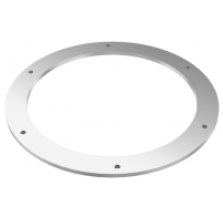 Counter flange for connection, round