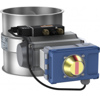 Throttle valves with seal,  pneumatically operated with Air Torque rotary actuator