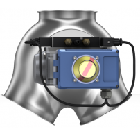 Two-way valves with inlet collar, symmetrical, fitted with pneumatic rotary actuator